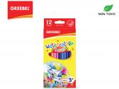 GREEBEL 8012 Water Colour Pencil 12 Warna